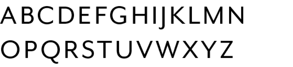 Font Eaves Regular